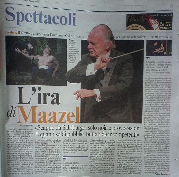Wrath of maazel