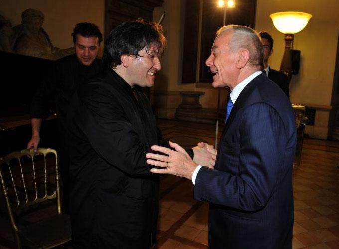 Antonio pappano e gianni letta