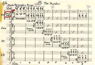 Herrmann score the murder