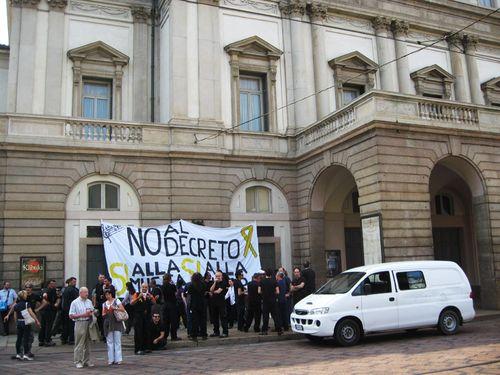 Scala protest