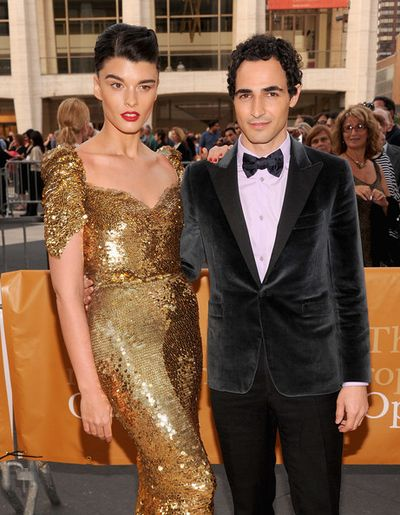 Met opera 03Crystal Renn and Zac Posen