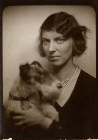 Gertrund and dog