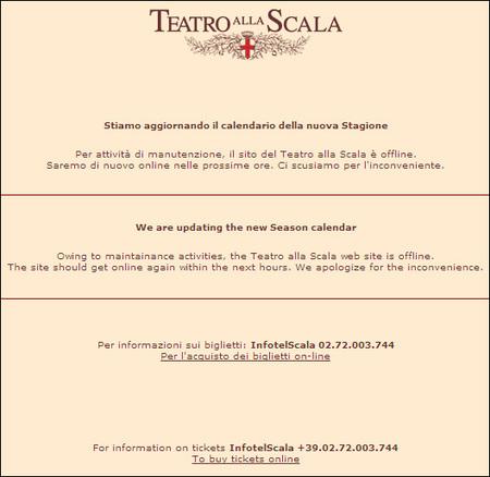 Calendario Teatro Alla Scala.Opera Chic So Bootleg It Almost Hurts 2007 8 La Scala Season