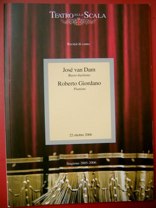 José van Dam sings Schubert's Winterreise: La Programma