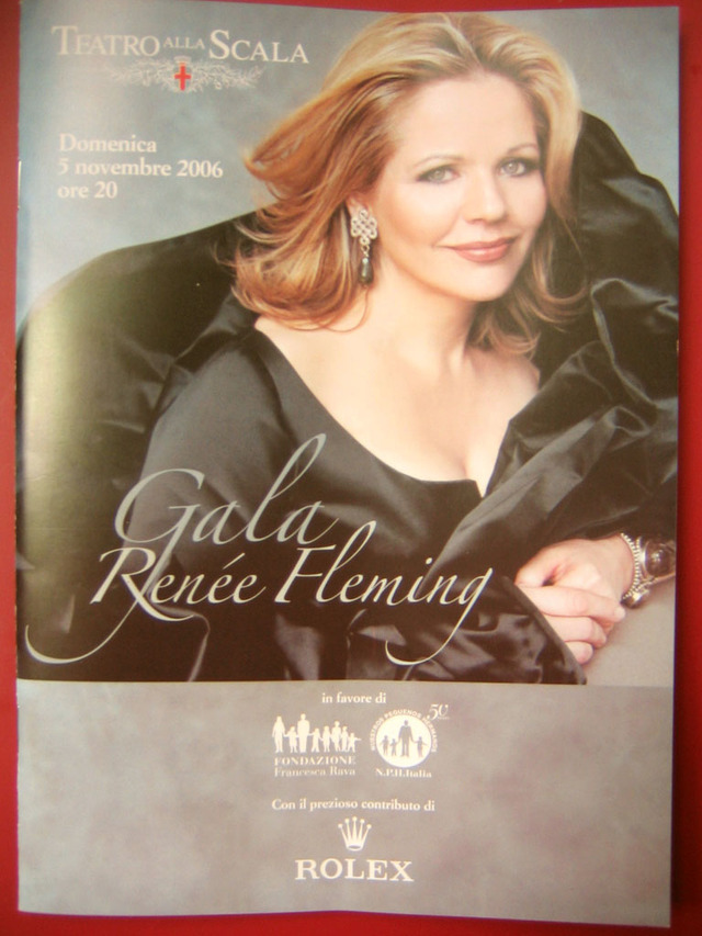 La Programma: For the Renée Fleming recital at Teatro alla Scala