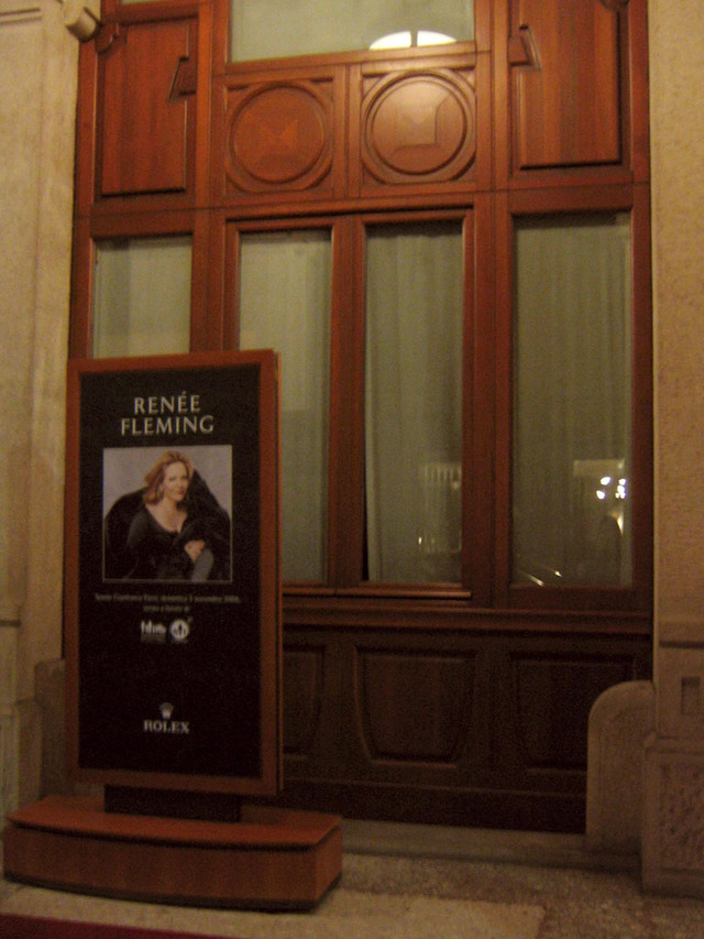 Location of the Renée Fleming Charity Gala Dinner: the palazzo of Gianfranco Ferré.